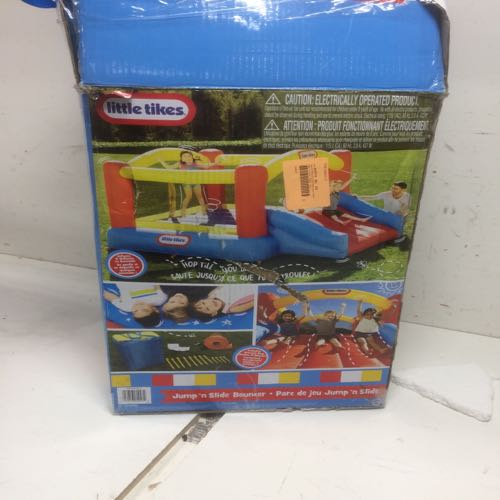 Little Tikes 620072X2CP Inflatable Jump 'n Slide With Bag, Blower, & Patch Kit Multi-colo