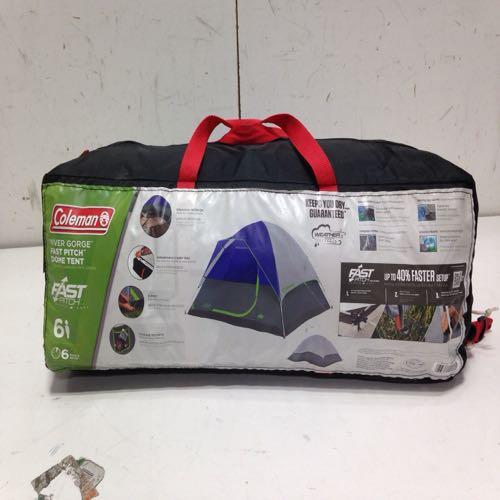 Coleman 20116120 River Gorge Fast-pitch Dome Tent 6-person size 10' X 10' Blue