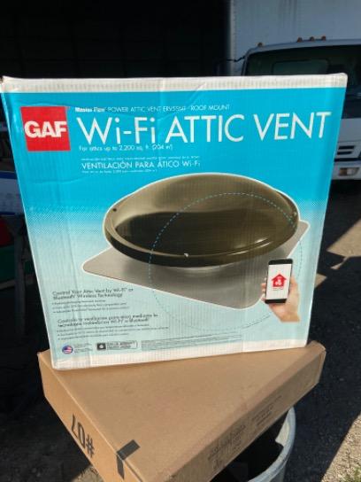 GAF Masterflow WiFi Attic Vent ERV5SMT 2200 Sq Ft Attics