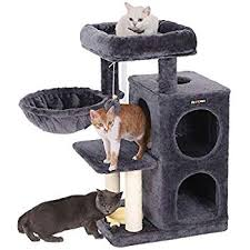 AMT0014GY Cat Scratcher And Play Tower