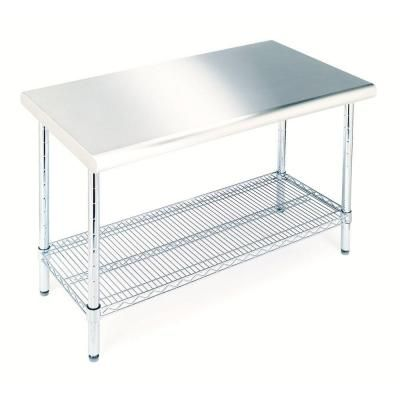 SHE18308B Commercial Stainless Steel Work Top Table