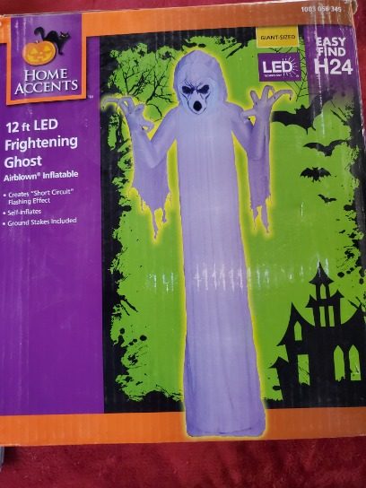 12ft Frightening Ghost Led Airblown Inflatable