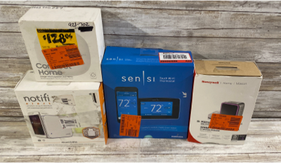 Mixed Lot Of 4 Sensi Touch Wi-Fi Thermostat/Honeywell Portable Wireless Doorbell/Samsung Connect Home/Notifi Wireless Plug-in Doorbell
