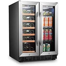 Lanbo LW3370B side by side wine & beverage cooler