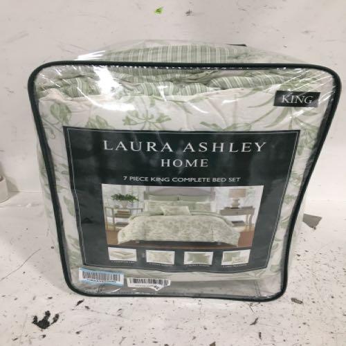 Laura Ashley 7 Piece King Comforter Set