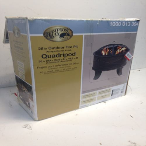 Hampton Bay 1000 013 394 Outdoor Fire Pit  size 26