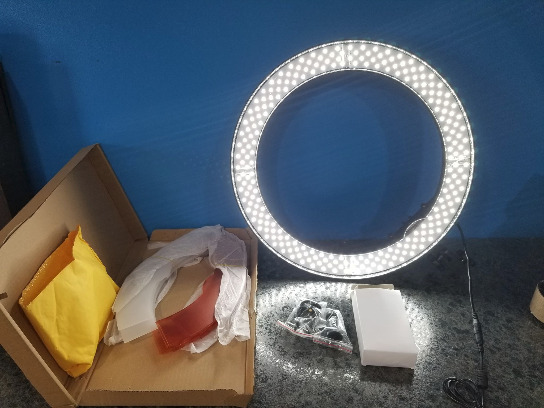 CLAMP MOUNT RING LIGHT WITH CLEAR LENS OR AMBER - TESTED