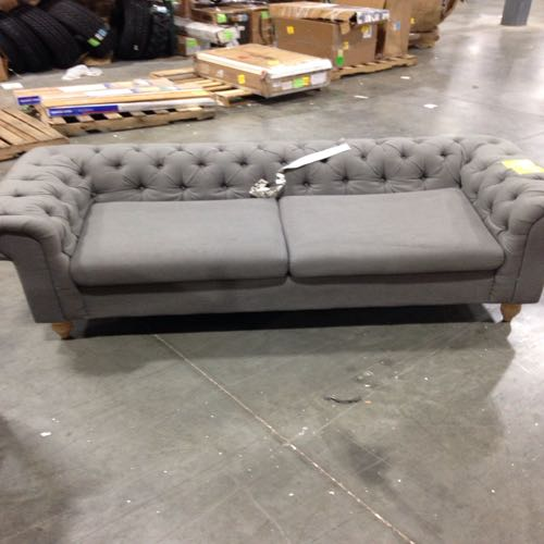 2 cushion family room couch  gray