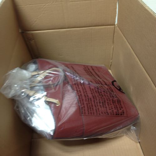Michael Kors Red Leather Hand Bag With Dust Bag . Large