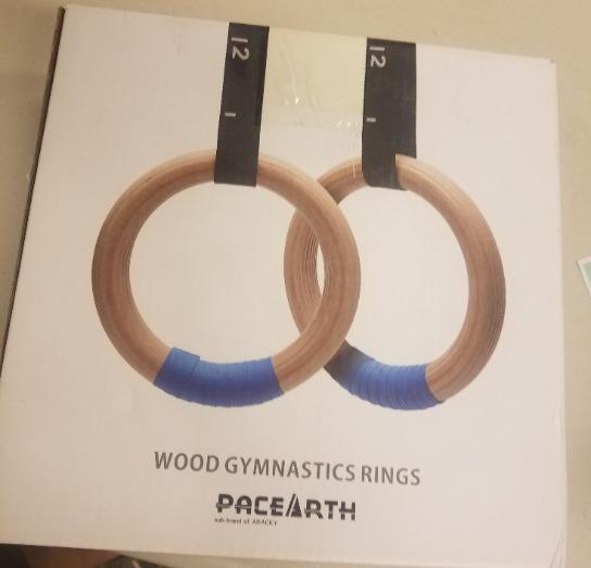 Brand New Wood Gymnastic Rings