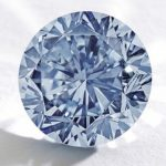 "Sotheby's to auction rare, 7.59-carat, round brilliant cut, fancy vivid ""Premier Blue"" diamond at HK  in October 2013."