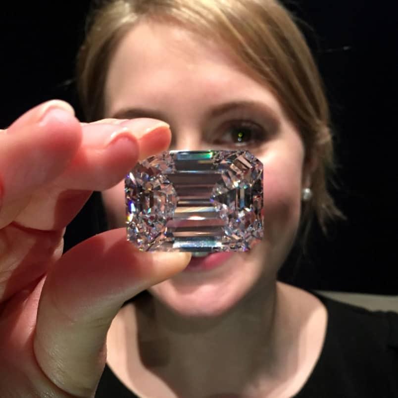 100 20 Carat Ultimate Emerald Cut Diamond Features At