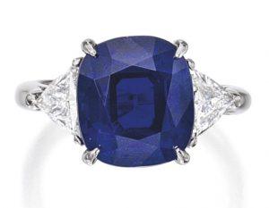 Lot 281 - Important Platinum, Sapphire and Diamond Ring, Tiffany & Co