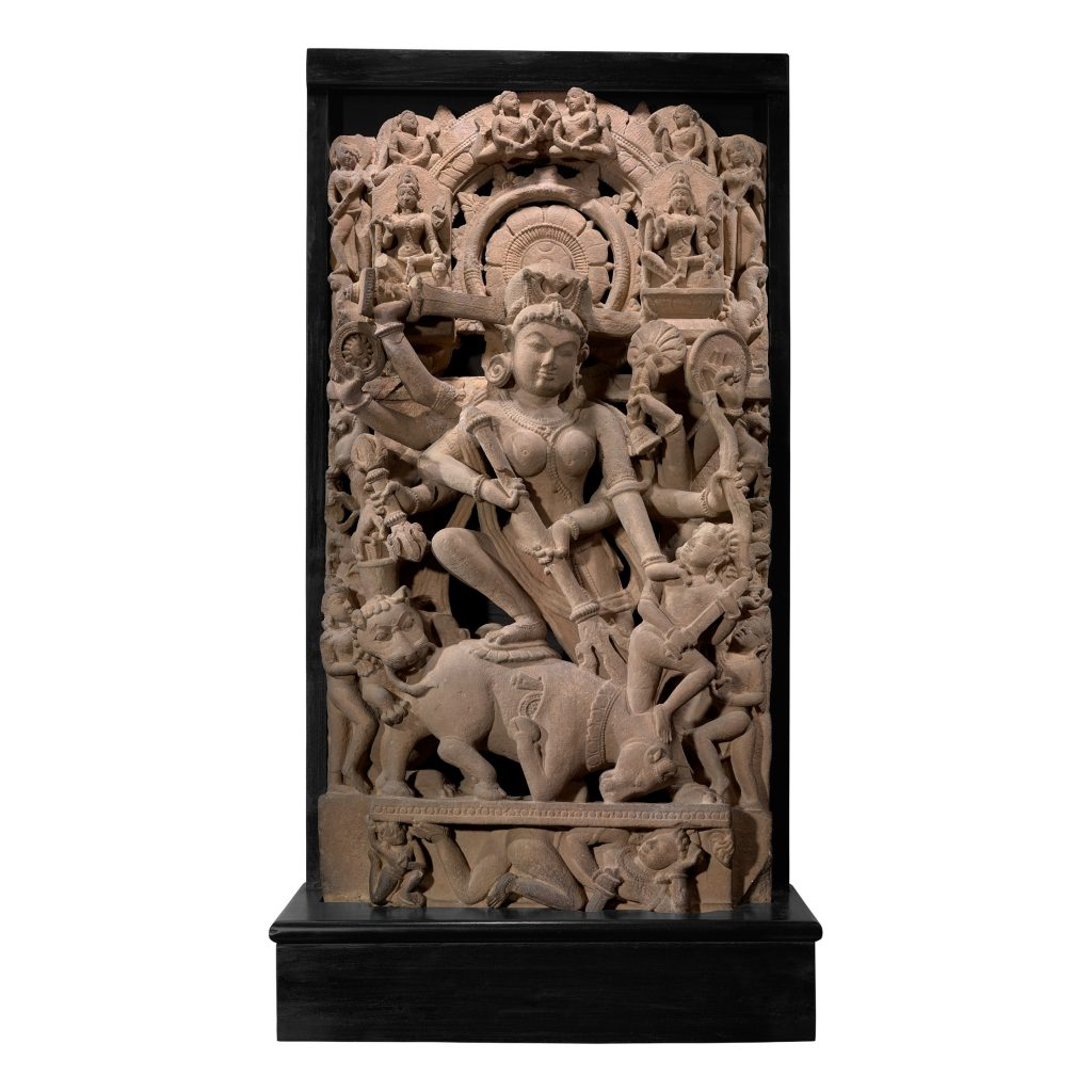 Lot 74 - MAHISHASURAMARDINI (DURGA SLAYING THE BUFFALO DEMON) UTTAR PRADESH OR MADHYA PRADESH, 10TH - 11TH CENTURY, Estimate - Rs 3,00,00,000 - 5,00,00,000 (1)