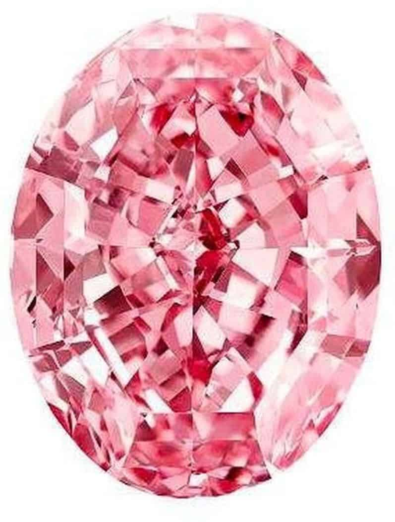 "59.60-carat, oval mixed-cut, fancy vivid pink, internally flawless ""Pink Star""diamond"