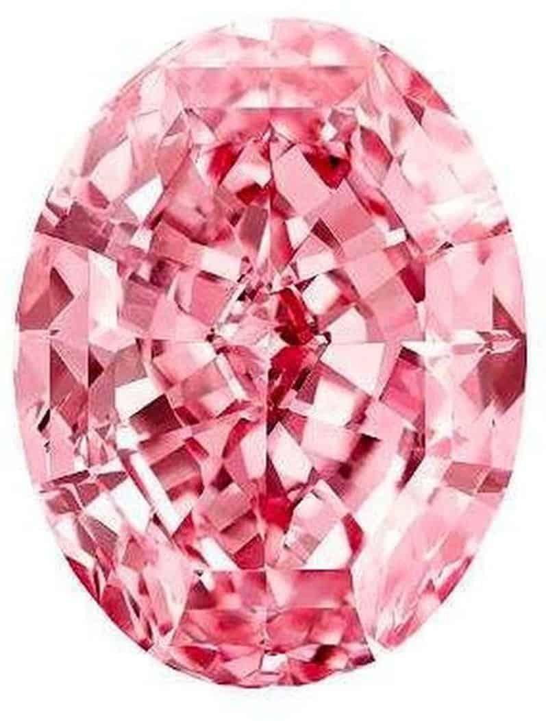 Lot 1801- 59.60-carat, oval mixed-cut, fancy vivid pink, Internally Flawless Pink Star diamond