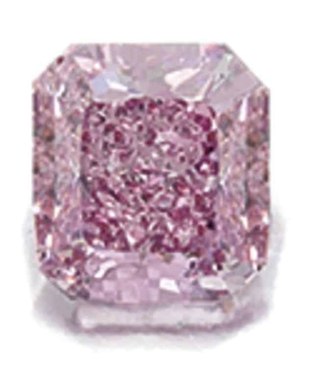 Lot 1685 - Fancy Vivid Purplish Pink Diamond and Diamond Ring