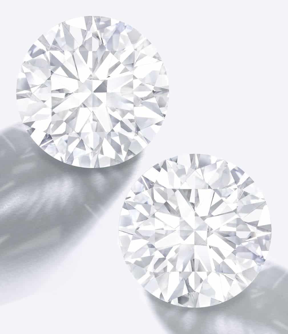 Lot 1785 - Important Pair of Unmounted Diamonds