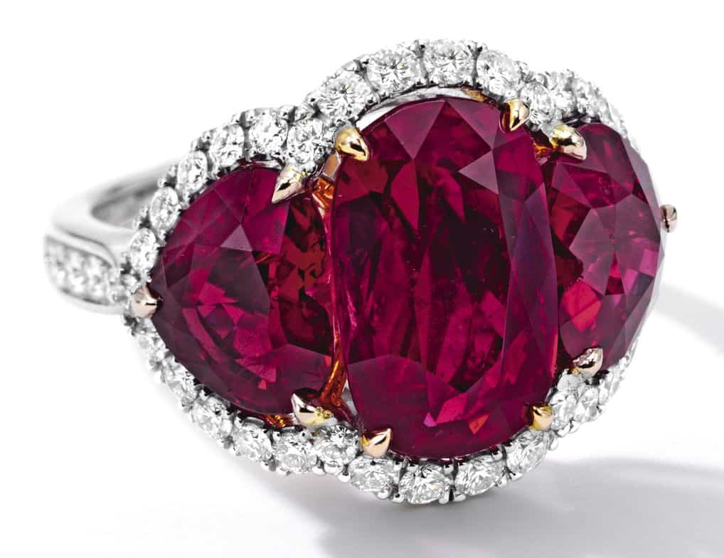 Lot 1693 - Important Ruby and Diamond Ring