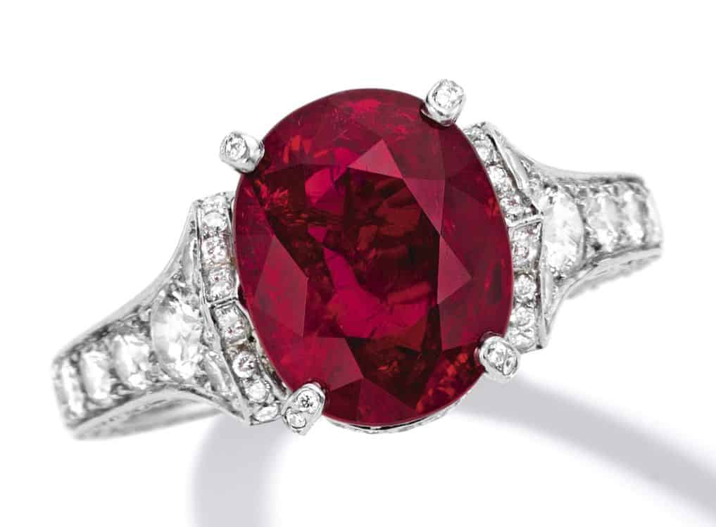 Lot 1780 - Important Ruby and Diamond Ring, Cartier