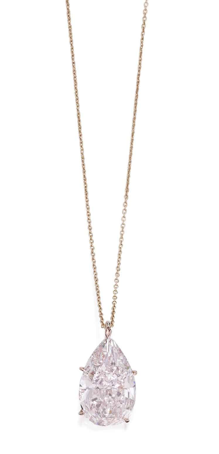 lot 87 - Important Rose Gold and Fancy Pink Diamond Pendant and the Link Chain