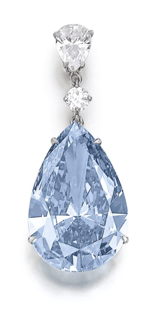 Lot 377 - Superb and extremely rare fancy vivid blue diamond