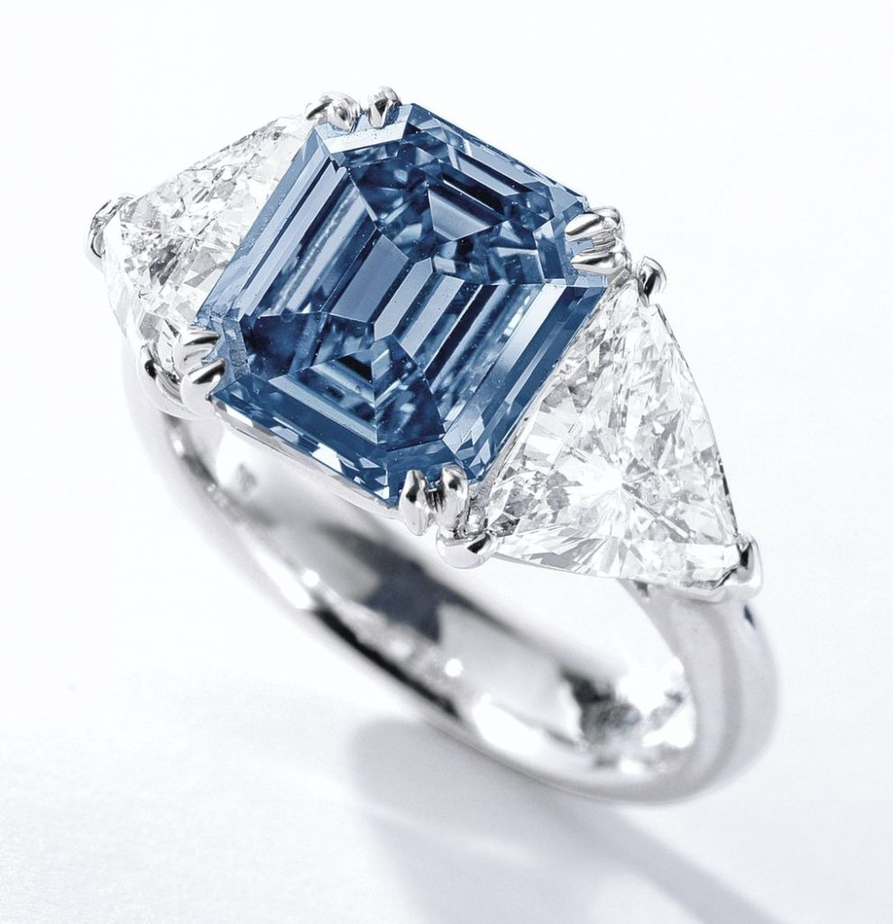 Lot 363A - Fancy vivid blue diamond ring