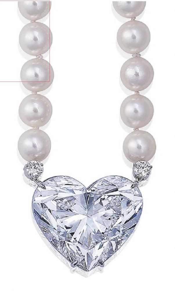 LOT 228 - SECTION OF THE LA LEGENDE DIAMOND AND CULTURED PEARL SAUTOIR NECKLACE