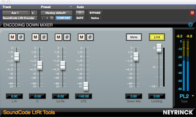 SoundCode LtRt Tools Encoding Downmixer