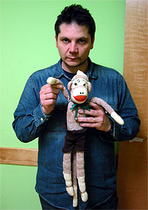 Jeff Tweedy & Cleetus from the Red Heel Monkey Shelter