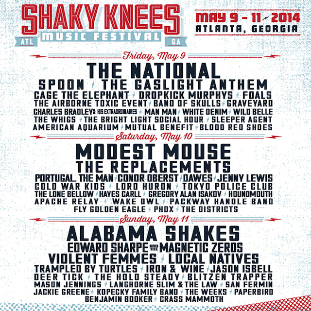 Shaky Knees Lineup