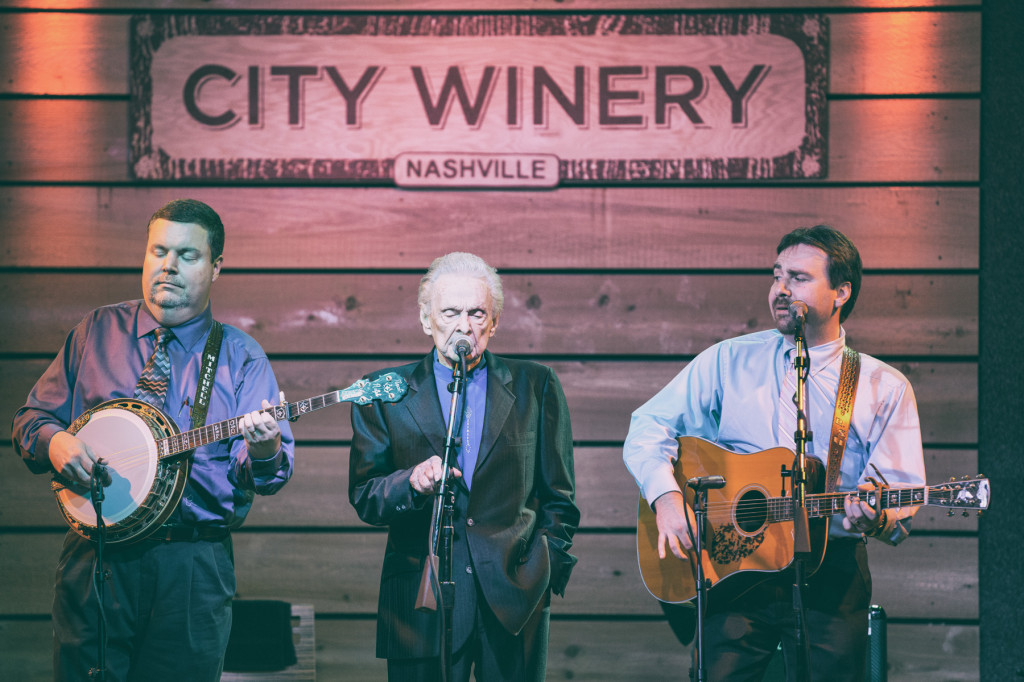 Dr. Ralph Stanley & The Clinch Mountain Boys w/ Ralph Stanley II.  Photo by Sundel Perry.