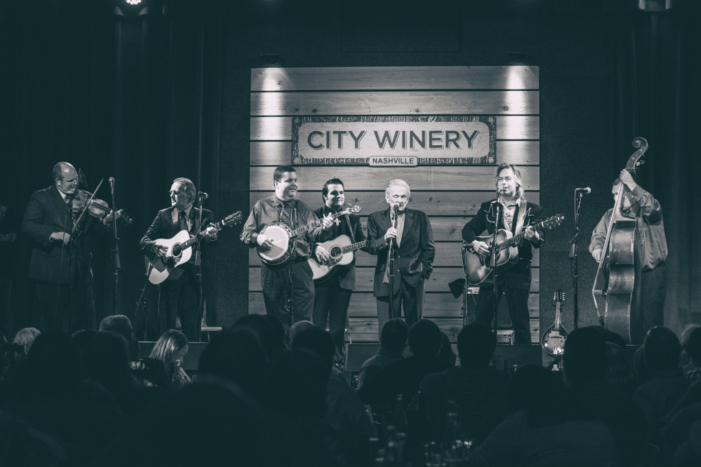 Dr. Ralph Stanley & The Clinch Mountain Boys w/ Jim Lauderdale.  Photo by Sundel Perry.