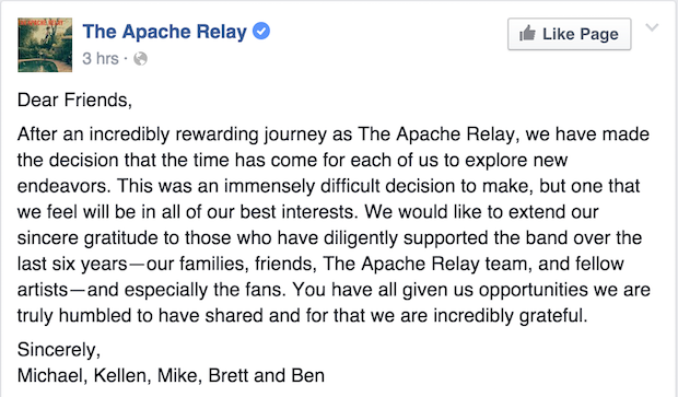 Screen Shot - Apache Relay Farewell