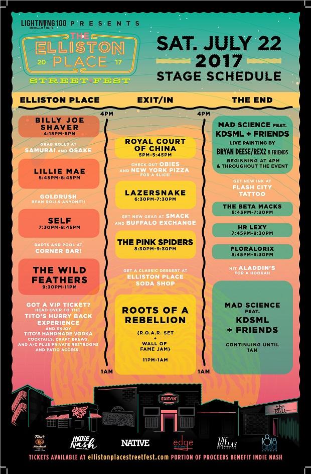 Elliston Place Street Fest Schedule