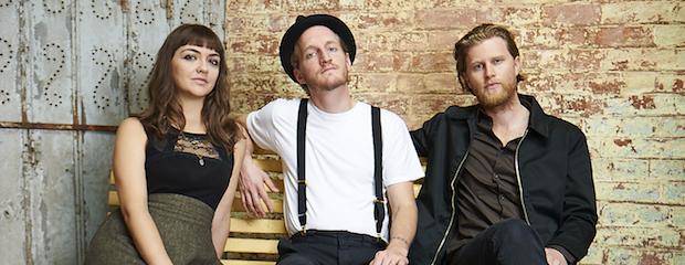 The Lumineers (from left): Neyla Pekarek, Jeremiah Fraites and Wesley Schultz.