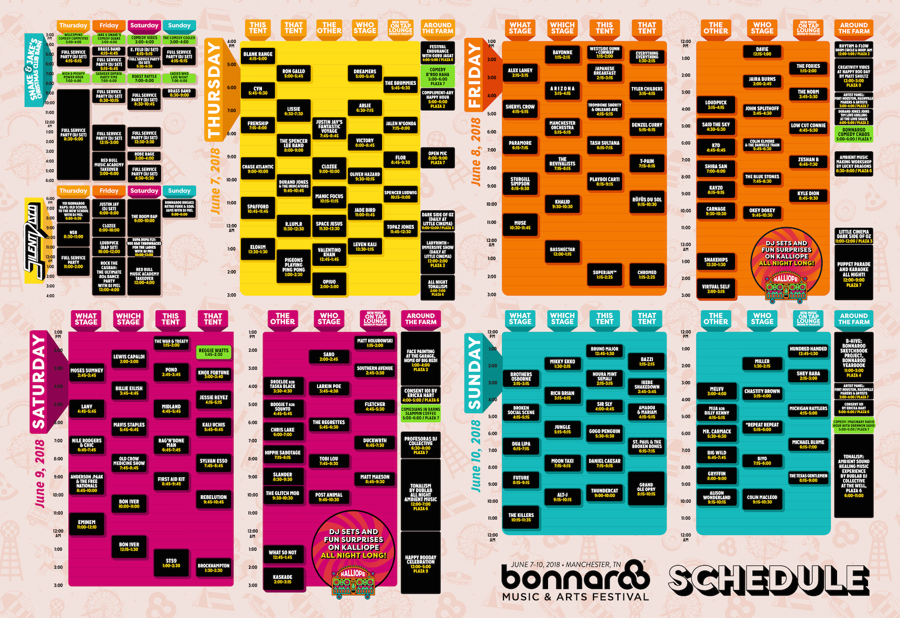 Bonnaroo2018Schedule