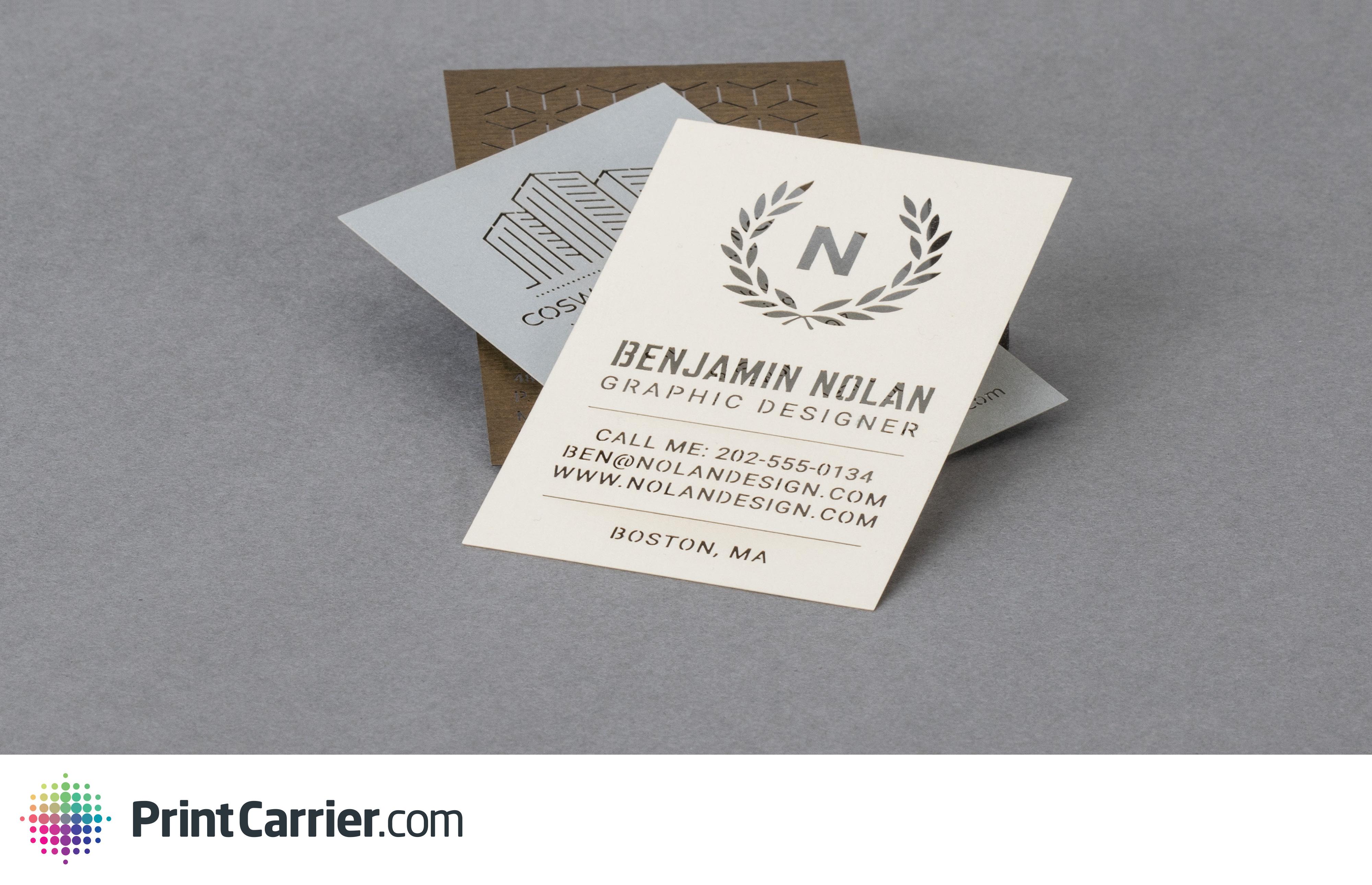 Et Dautres Types De Papiers Votre Logo Nom Vos Coordonnes Peuvent Tre Dcoups Par Un Laser Vous Recevrez Ainsi Une Carte Visite