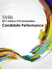 2011 NASBA Uniform CPA Examination Candidate Performance