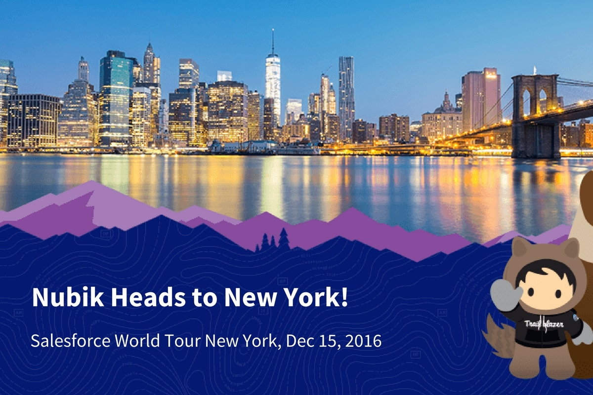Nubik travels to New York for Salesforce World Tour New York 2016