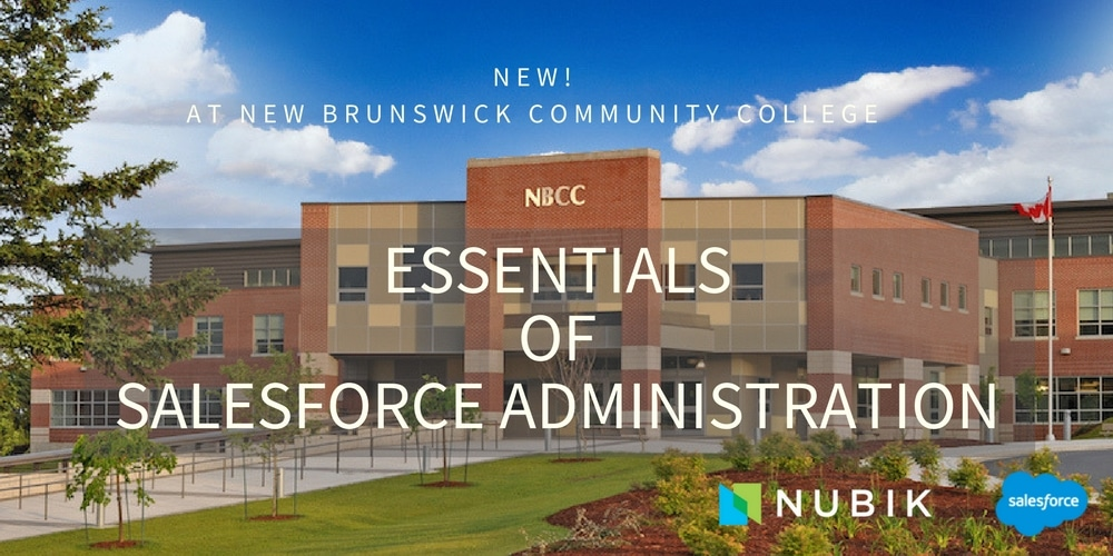 Nubik teaches how to become a Salesforce Adminstrator at New Brunswick Community College