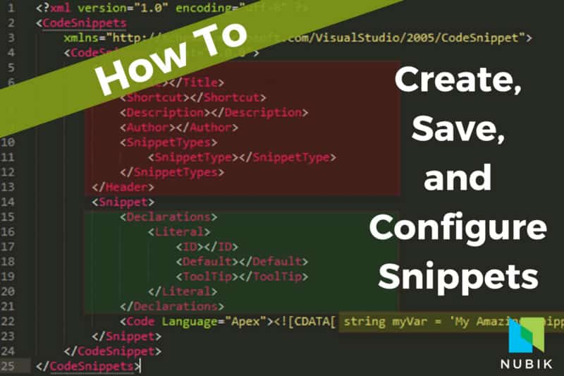how to create, save and configure snippets
