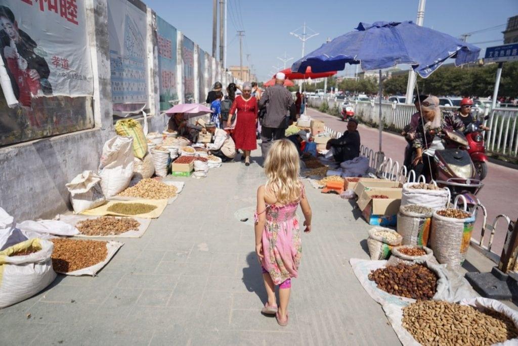 Kashgar market grand bazaar