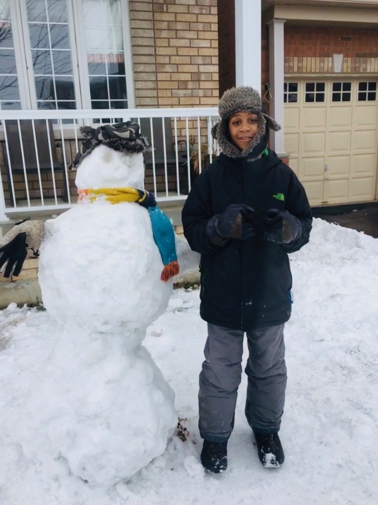 Canada for Kids: A nice snowman