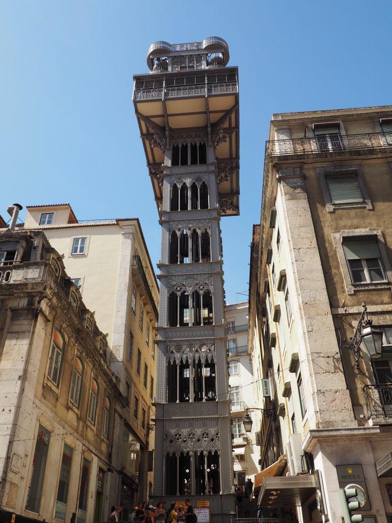 Lisbon with kids: Santa Justa Elevator