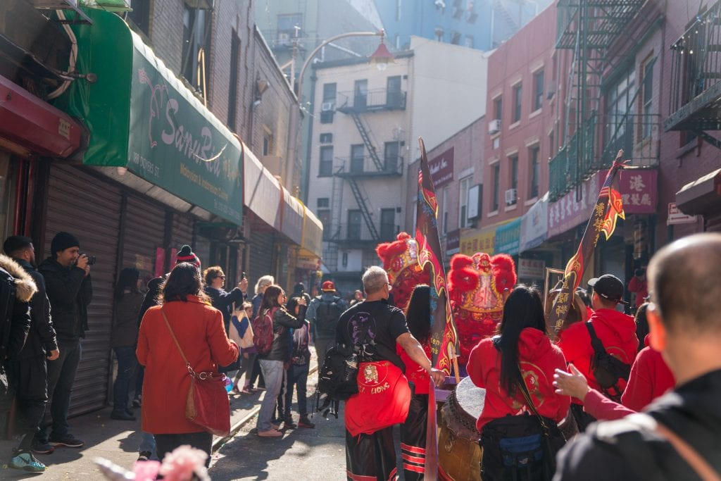 Things to do in NYC with Kids: Dragon dancers