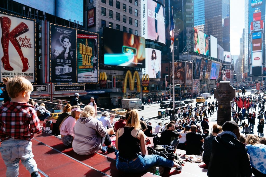 Things to do in NYC with Kids: Times Square TKTS Steps
