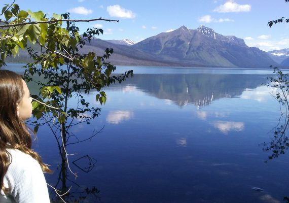 Glacier National Park: Skipping Stones at Lake McDonald