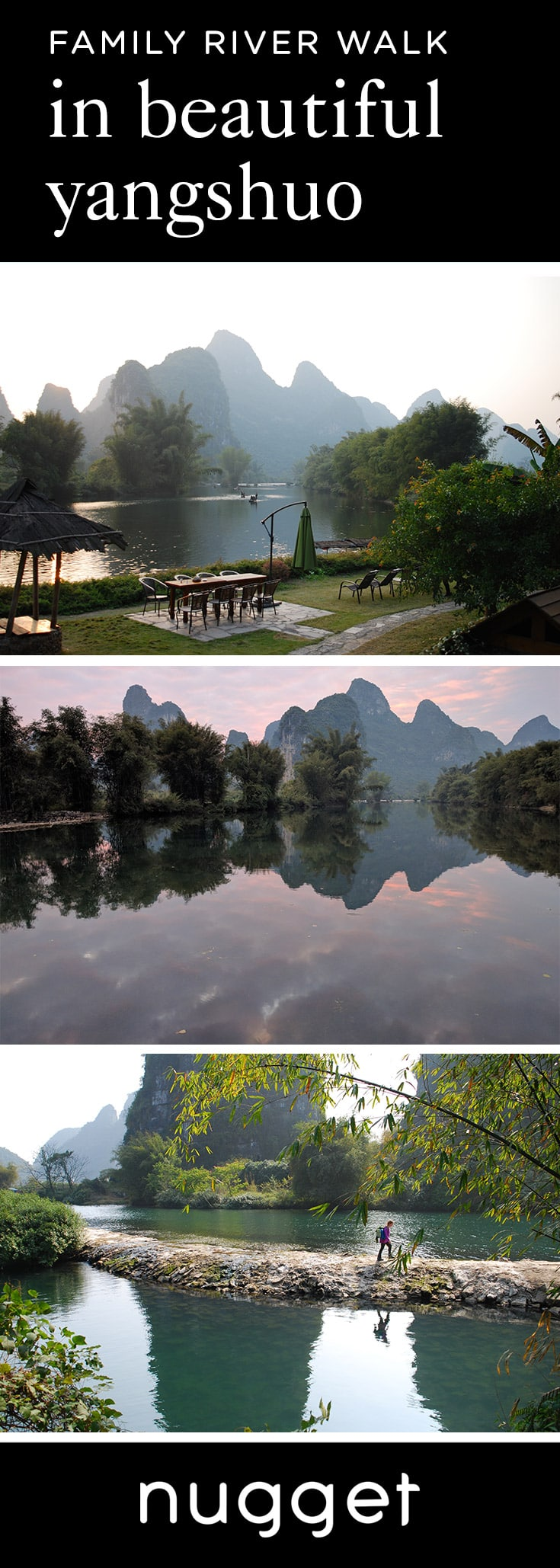 A Family River Walk in Yangshuo