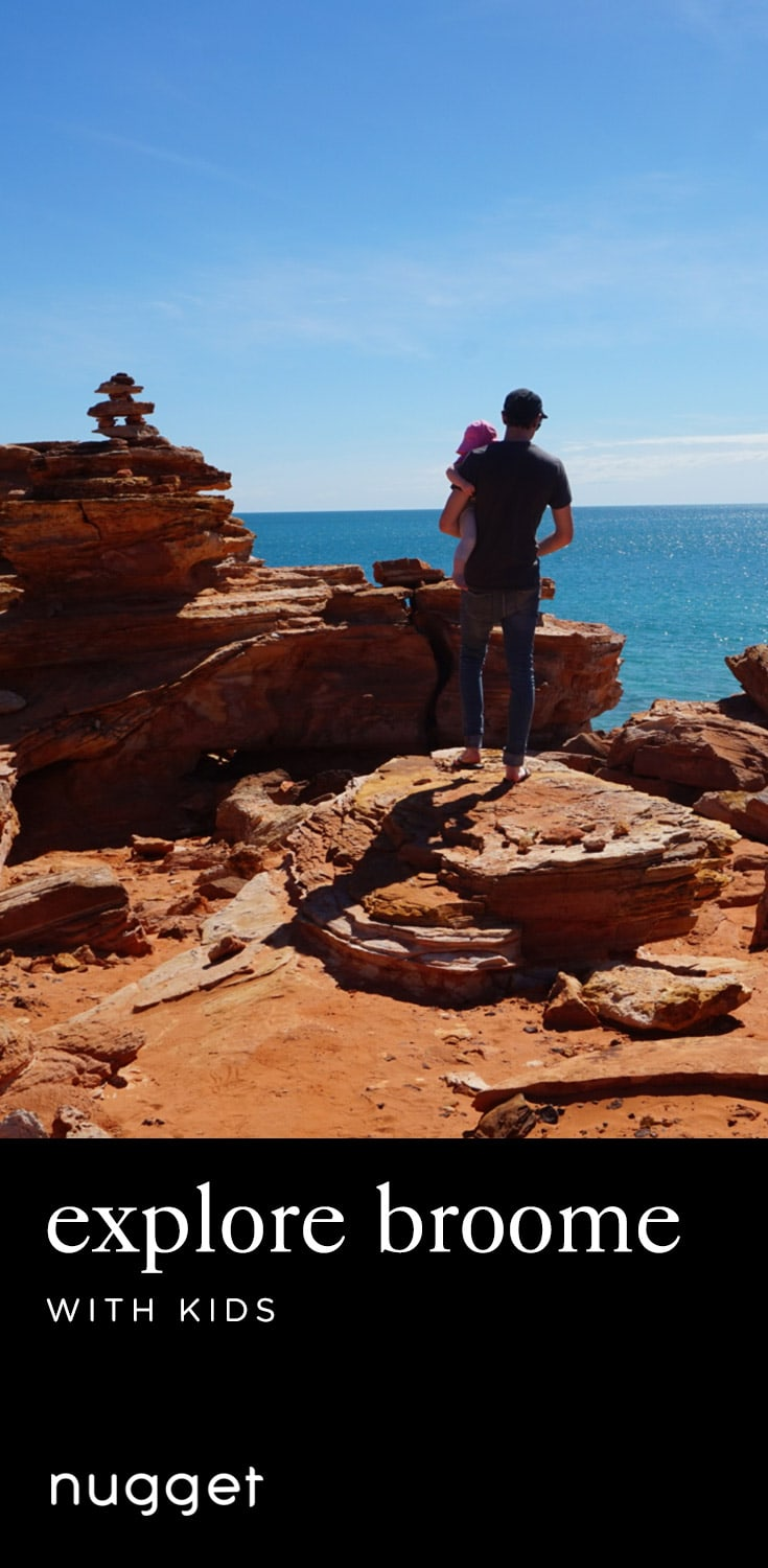 Exploring Broome with Kids: Dinosaur Footprints at Sunset